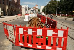 Straßenbau mit LVB in der KarLi 2015. Foto: Ralf Julke
