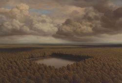 Foto: Markus Matthias Krüger, See, 2015, Acryl und Öl auf Leinwand, 190 x 270 cm