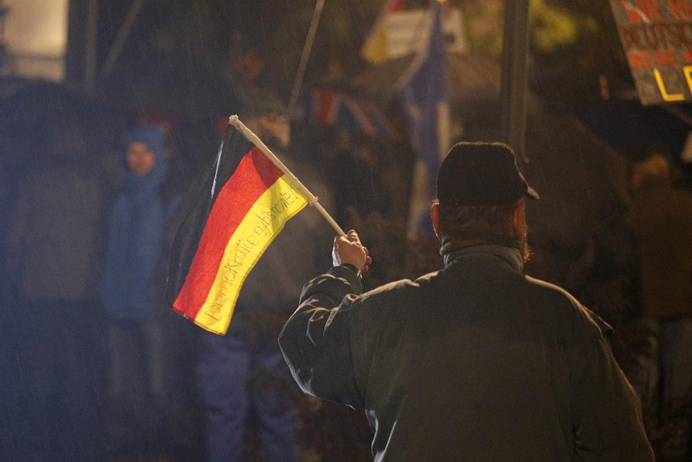 LEGIDA steht immer mehr allein auf Leipzigs Straßen. Foto: Alexander Böhm