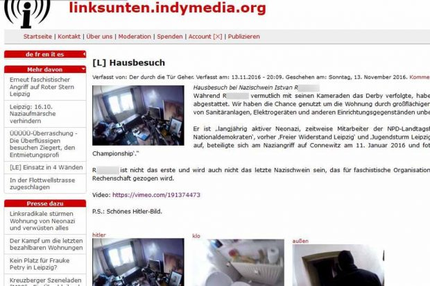 In einem Bekennerschreiben verargumentieren die Verfasser den Angriff mit Istvan R.'s mutmaßlicher Beteiligung an den Krawallen am 11. Januar 2016 in Leipzig-Connewitz. Screenshot: L-IZ.de