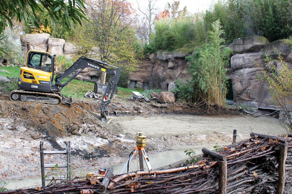 Die Umbauarbeiten in der Löwensavanne haben begonnen. Foto: Zoo Leipzig