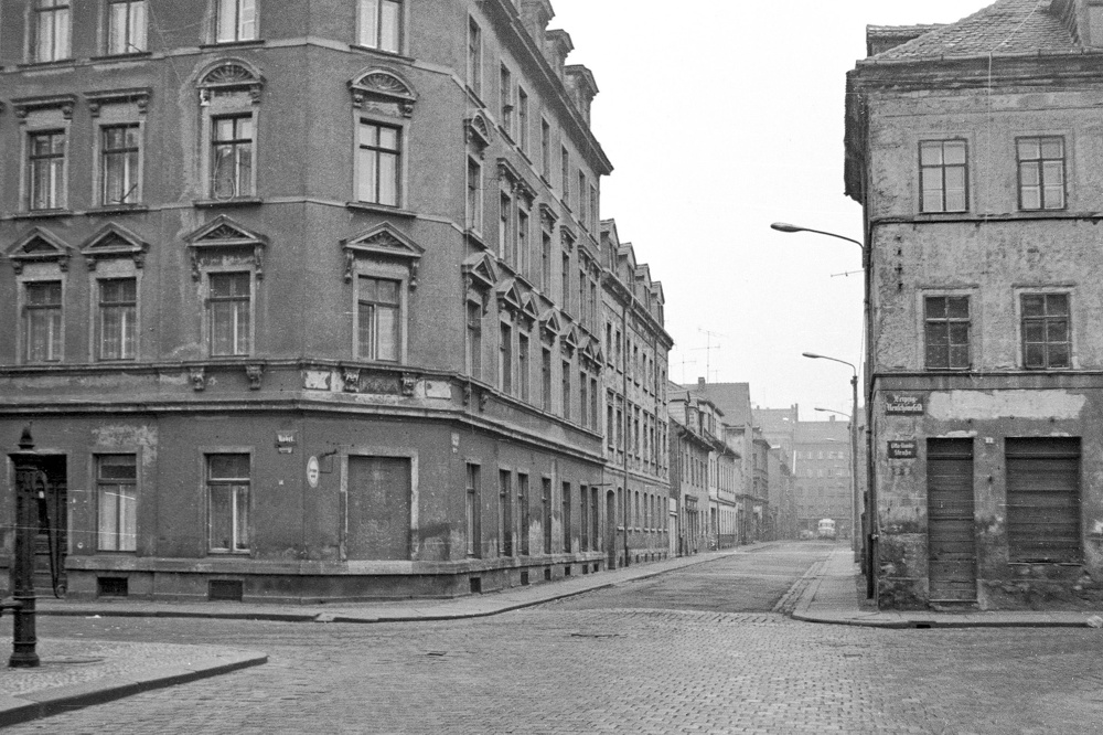 Die Melchiorstraße als Beispiel der typischen Bebauung aus dem Ende des vorletzten Jhd.s in Neuschönefeld. Foto: Harald Stein