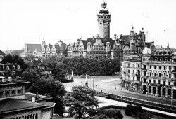 Der Stolz einer wachsenden Stadt. Das Neue Rathaus um 1914 herum. Foto: Stadtarchiv Leipzig