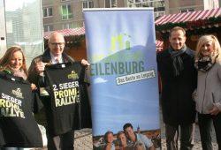 Ziel Leipziger Markt: Freddy Holzapfel, OBM Ralf Scheler, Steffen Lehmann (MDV) sowie Henriette Hahn (DB Regio AG). Foto: W & R