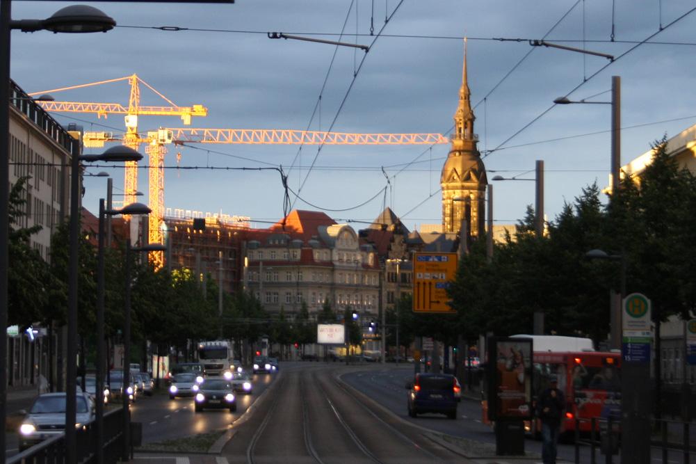 Beliebte Raserpiste: der Ranstädter Steinweg. Foto: Ralf Julke