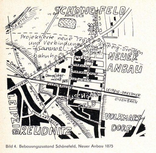 Eine Skizze zu den Ortsteilen im Jahr 1875 von Harald Stein. Skizze: Harald Stein