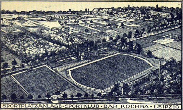 Der nagelneue Sportplatz von Bar Kochba 1922. Quelle: SML Pauckert S. 131 / Tüpfelhausen e.V.