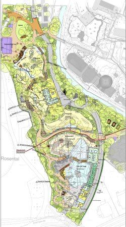 Der Plan für die komplette neue Landschaft Südamerika. Karte: Zoo Leipzig