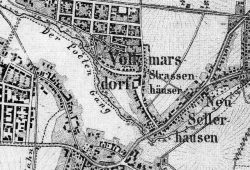 Volkmarsdorf 1860. Quelle: wikicomm