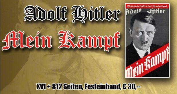 """Werbung für """"Mein Kampf"""" von Adolf Hitler im Nachdruck. Screenshot Schelm Verlag 2016"""