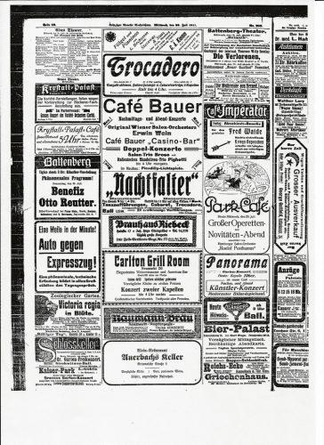 Werbung um die Jahrhundertwende. Auch das Reudnitzer Tageblatt lebte von Zeitungsinseraten und erschien kostenfrei. Foto: Stadtarchiv Leipzig