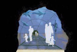 Der geplante Unterwassertunnel im Abschnitt Feuerland. Grafik: Zoo Leipzig
