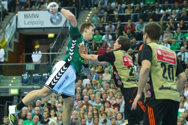 Niclas Pieczkowski war mit 7 Toren der treffsicherste Spieler der Partie. Foto: Jan Kaefer