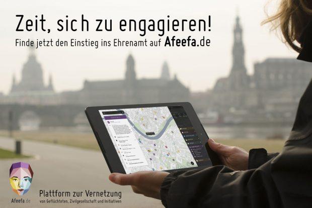 Werbung für Afeefa in Dresden. Foto: Dresden für Alle e.V.