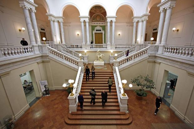 Eingangshalle der Bibliotheca Albertina. Foto: Uni Leipzig
