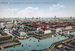Blick auf den Westen von Leipzig (Planungsskizze, nicht alles wurde auch so gebaut) im beginnenden 20. Jahrhundert. Zu sehen ist unter Anderem die heutige Jahnallee. Bild: Stadtarchiv Leipzig