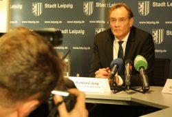 Burkhard Jung in der Pressekonferenz zu Weihnachtsmarkt und Leipziger Zukunft. Foto: Ralf Julke