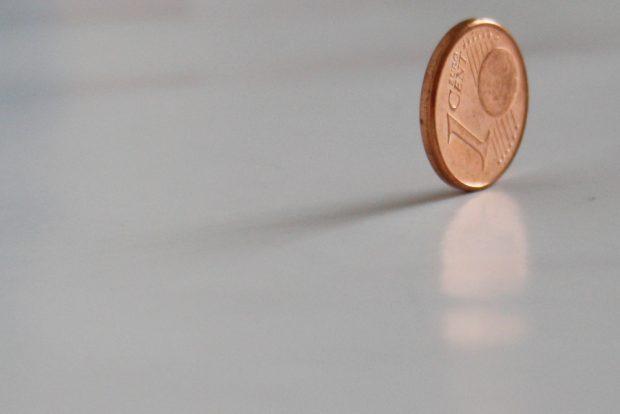 Ein schöner Cent zum Verjubeln. Foto: Ralf Julke