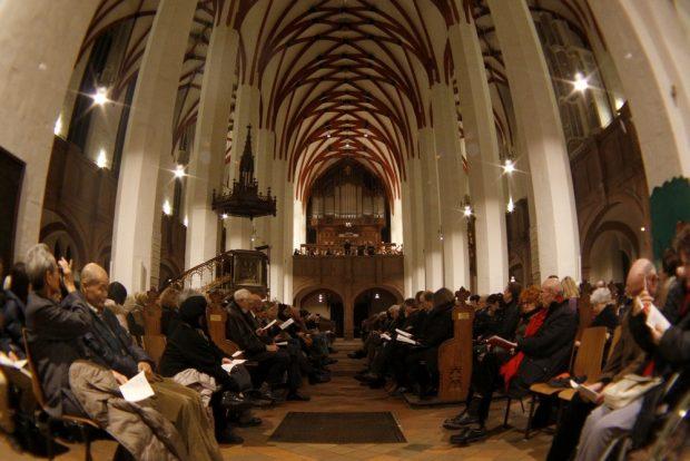 Das ausverkaufte Weihnachtsoratorium in der Thomaskirche. Foto: Alexander Böhm