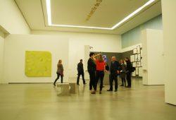 Blick in die Ausstellung der vier Marion Ermer Preisträger 2016. Foto: Ralf Julke