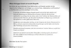 Der Offene Brief des Flüchtlingsrats Leipzig e.V. Repro: L-IZ
