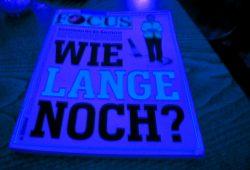 """""""Focus""""-Titel mit suggestiver Frage. Foto. L-IZ"""
