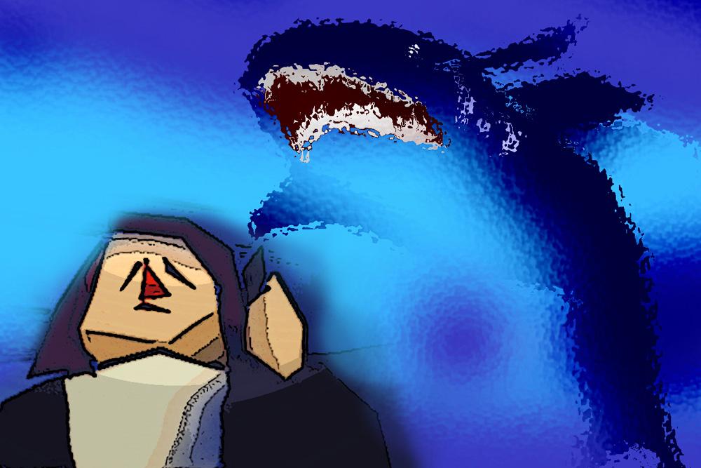 Schön ist es, wenn L. nur von Haifischen träumt. Grafik: L-IZ