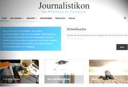 Startseite des Journalistikons. Screenshot: L-IZ