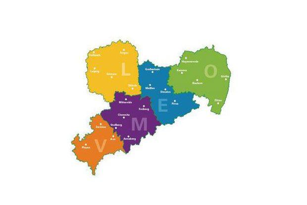 Regionen, in denen die Frühlingsspaziergänge stattfinden werden. Foto: SMUL
