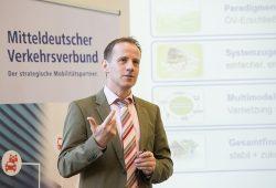 Steffen Lehmann, Geschäftsführer des MDV, erläutert die untersuchten Finanzierungsmodelle. Foto: Christian Modla/ Westend Communication
