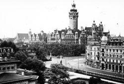 Der Stolz der Leipziger. 1891 liefen noch die Planungen, 1905 wurde das Neue Rathaus fertiggestellt. Foto: Stadtarchiv Leipzig