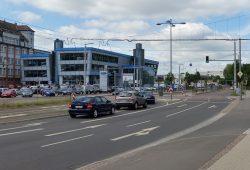 Auf der Lützner Straße Richtung Grünau. Foto: Marko Hofmann