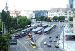 Aktuelle Situation vorm Hauptbahnhof. Foto: Ralf Julke