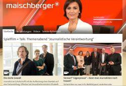 Der Maischbeger-Talk mit dem Frame Lügenpresse. Screenshot: L-IZ