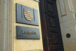 Der Eingang des Landgerichts Leipzig in der Harkortstrasse. Foto: Lucas Böhme