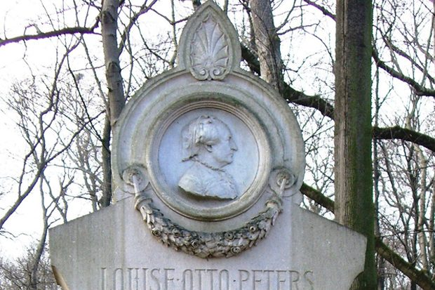 Louise-Otto-Peters-Denkmal im Rosental. Foto: Louise-Otto-Peters-Archiv/G. Kämmerer