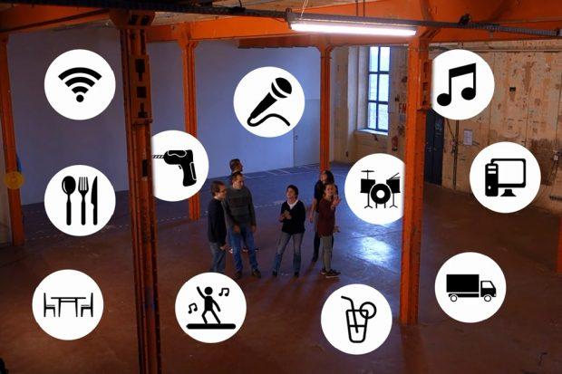 Visualisierung für den Ressourcenpool. Foto: Freiwilligenagentur Leipzig