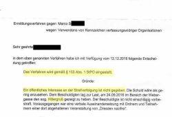 Hitlergruß-Verfahren mangels öffentlichem Interesse eingestellt. Screenshot: L-IZ.de