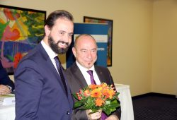 Justizminister Sebastian Gemkow und Parteikollege Dr. Thomas Feist (Ex-MdB, CDU). Foto: L-IZ.de