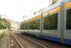 Straßenbahnen am Hauptbahnhof. Foto: Ralf Julke