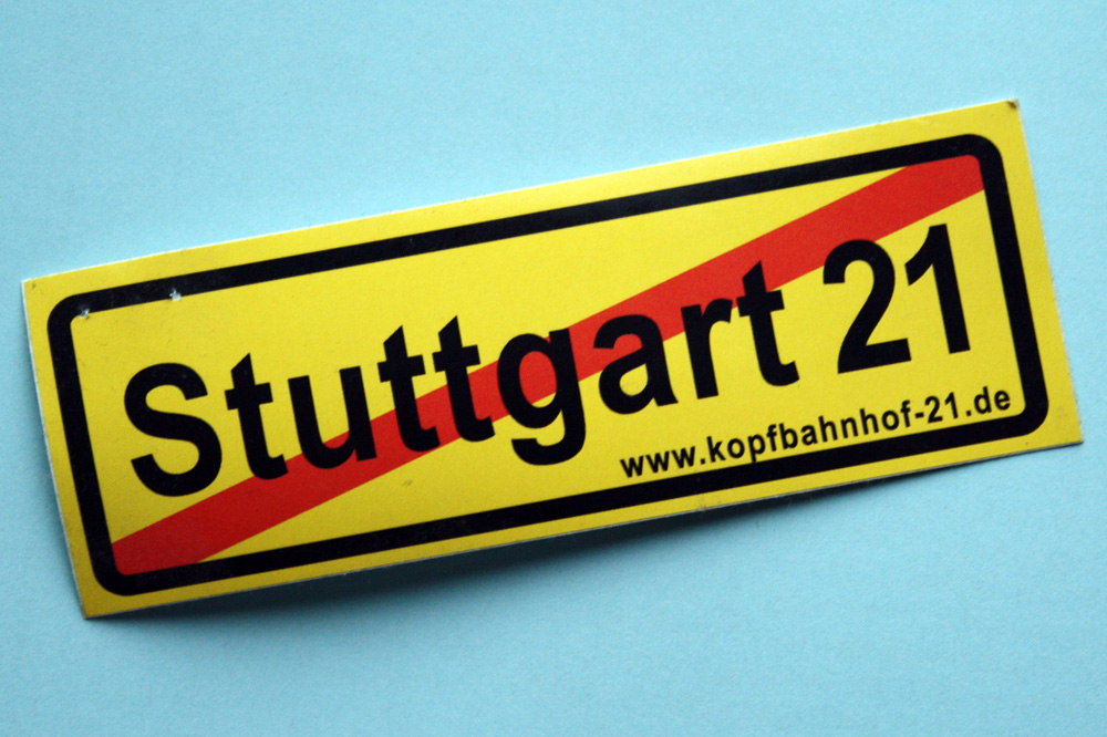 "Akzeptanz unerwünscht: Projekt ""Stuttgart 21"". Foto: Ralf Julke"