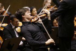 Violinist Joshua Bell im Gewandhaus Leipzig. Foto: Alexander Böhm