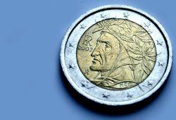 Dante auf einer italienischen Euro-Münze. Foto: Ralf Julke