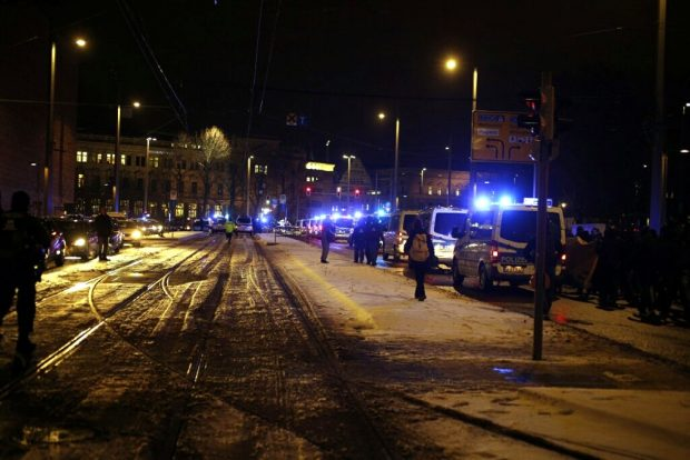Der Gegenprotest am Innenstadtring. Foto: L-IZ.de
