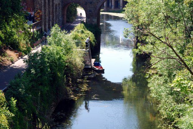 Der Karl-Heine-Kanal am Westwek im Sommer. Foto: L-IZ.de