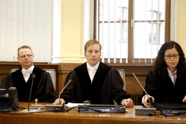 Die 15. Strafkammer unter Vorsitz von Richter Volker Sander (Mitte). Foto: Alexander Böhm