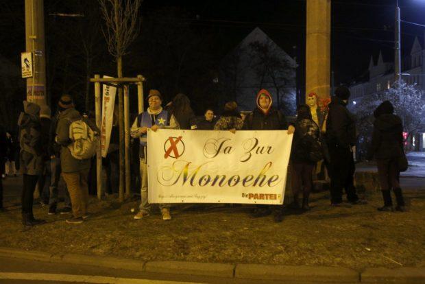 PARTEI-Veranstaltung am Connewitzer Kreuz. Foto: Alexander Böhm