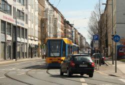 Eisenbahnstraße in Neustadt-Neuschönefeld. Foto: Ralf Julke