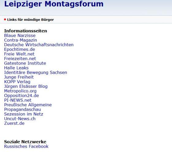 """Was der Legida-Anhäner eben so braucht. Alle Empfehlungen des """"Montagsforums"""" versammelt. Screen Montagsforum"""