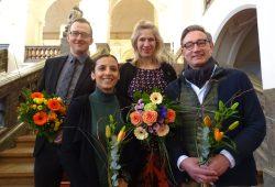 Norman Volger, Nicole Lakowa, Katharina Krefft, Tim Elschner, (v.l.n.r.). Foto: Bündnisgrüne Fraktion